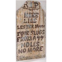 Boot Hill Grave Stone