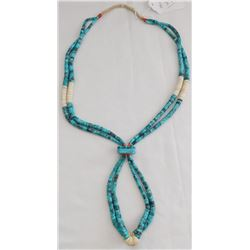 Turquoise Nuggets and Heishi Necklace