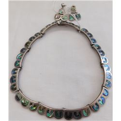Emma Melendez Taxco Sterling Silver & Abalone Pair