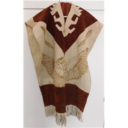Leather Pictoral Poncho