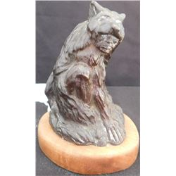 Bronze of Native American Wearing Bear Skin
