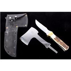 Gerome Weinand Elk Horn Knife & Hatchet Lolo MT