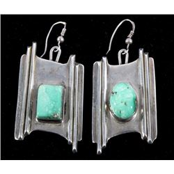 Navajo Sterling & Turquoise Earring Set