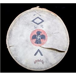 Apache Whirling Logs Pictorial Polychrome Drum