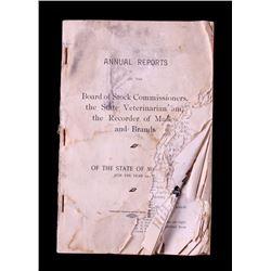 1906 Montana Livestock Brand Book