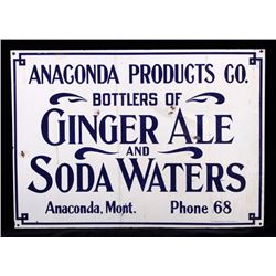 Anaconda Products Co. Prohibition Era Sign Montana