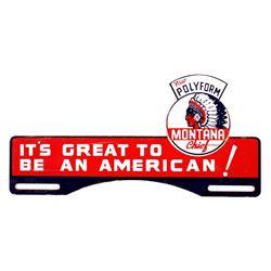 Montana Chief Polyform Gas License Plate Topper