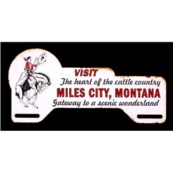 Miles City Montana License Plate Topper