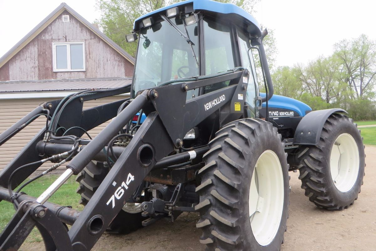 new holland tv140 serial number location