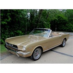1965 FORD MUSTANG CONVERTIBLE RALLY PAC HONEY GOLD METALLIC 72000 ORIGINAL MILES PONY INTERIOR