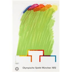 Richard Smith, Munich Olympics 1972, Lithograph and Collage