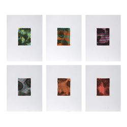Peter Schuyff, Lot of 6 Abstract Aquatint Etchings
