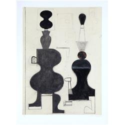 David Storey, V, Monoprint