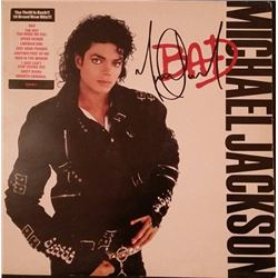 MICHAEL JACKSON SIGNED BAD LP