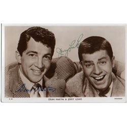 DEAN MARTIN/JERRY LEWIS SIGNED PHOTO.