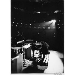 RAY CHARLES 1966: BILL RAY SILVER GELATIN SIGNED.