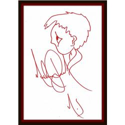 MICHAEL JACKSON SIGNED DRAWING OF A BOY.