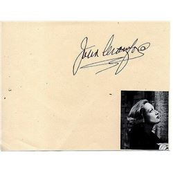 .JOAN CRAWFORD SIGNED ALBUM PAGE.
