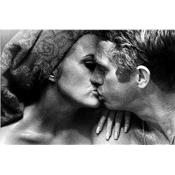 BILL RAY SIGNED: STEVE MCQUEEN THE THOMAS CROWN AFFAIR. SILVER GELATIN.