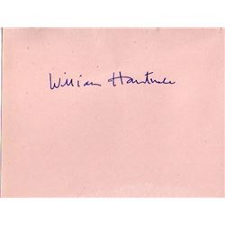 WILLIAM HARTNELL SIGNED PAPER.