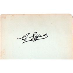 GUSTAVE EIFFEL SIGNED PAPER.