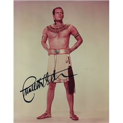 CHARLTON HESTON SIGNED PHOTO