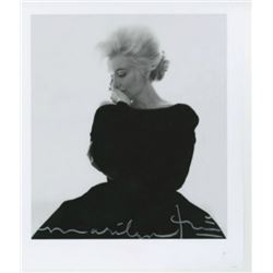 BERT STERN: MARILYN MONROE VOGUE BLACK DRESS.