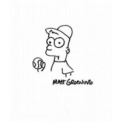 MATT GROENING HAND DRAWING OF BART SIMPSON.
