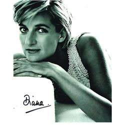 PRINCESS DIANA SIGNED PHOTO.