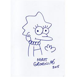 MATT GROENING DRAWING OF LISA SIMPSON.