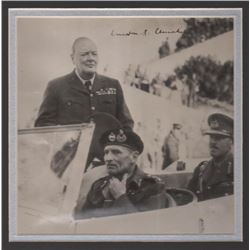 WINSTON CHURCHILL SIGNED PHOTO