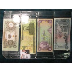 (4) various Bank notes from Biafra; Domenican Republic, Jamaica, & Viet Nam. Catalog value $8.00.