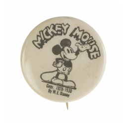 Mickey Mouse Club Member's Button.