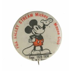Fox Valley Stream Mickey Mouse Club Button.