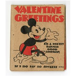 Hall Brothers Mickey Mouse Valentine's Card and Mailing Envelope.