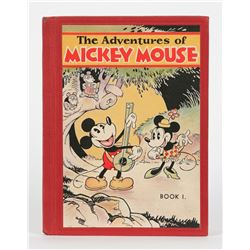 "First Edition ""The Adventures of Mickey Mouse Book 1""."