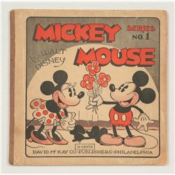 "First Edition ""Mickey Mouse Series No. 1"" Softcover."