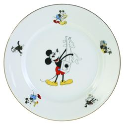 Collection of (3) Mickey Mouse Bavarian China Plates.