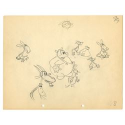 "Original production drawing from ""The Whoopee Party""."