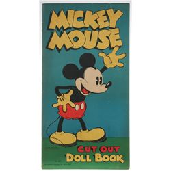 Mickey Mouse and Minnie Mouse Paper Doll Book.