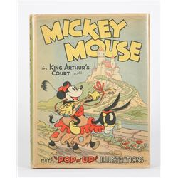 "First Edition ""Mickey Mouse in King Arthur's Court"" Hardcover Pop-Up Book."