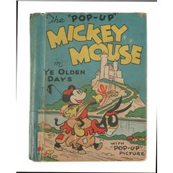 """Mickey Mouse in Ye Olden Days"" Pop-up book."