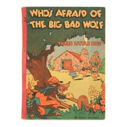 """Who's afraid of the Big Bad Wolf"" softcover book."