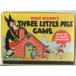 "Walt Disney's ""Three Little Pigs"" Game."