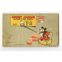 Mickey Mouse Picture Card Album Vo. 1