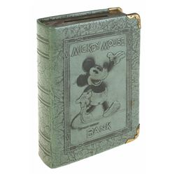 "Mickey Mouse ""Book"" Bank in Box - Blue."