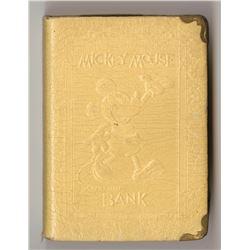 "Mickey Mouse ""Book"" Bank - Tan."