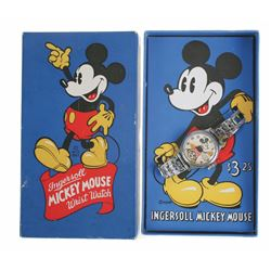 Ingersoll 1937 Mickey Mouse Wristwatch in box.