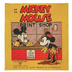 Mickey Mouse Print Shop.
