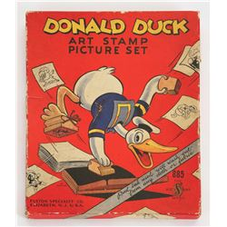 Donald Duck Art Stamp Picture Set.
